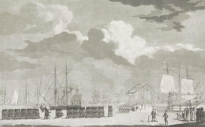 De intreede der Engelsche in Middelburg, in Oogstmaand 1809
