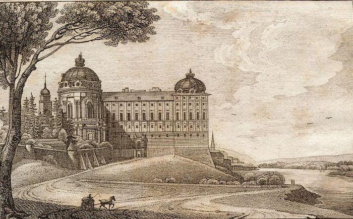 Ansicht des Stiftes zu Klosterneuburg.