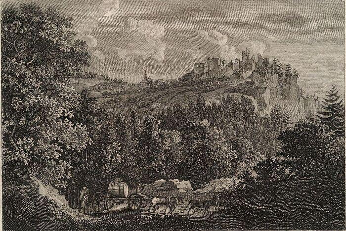 Le Chateau Hohnstein en Saxe.