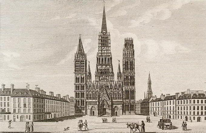 Église cathédrale de Rouen.