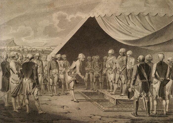 Das auswärtige Frankreich in Koblenz im Jahr 1791.