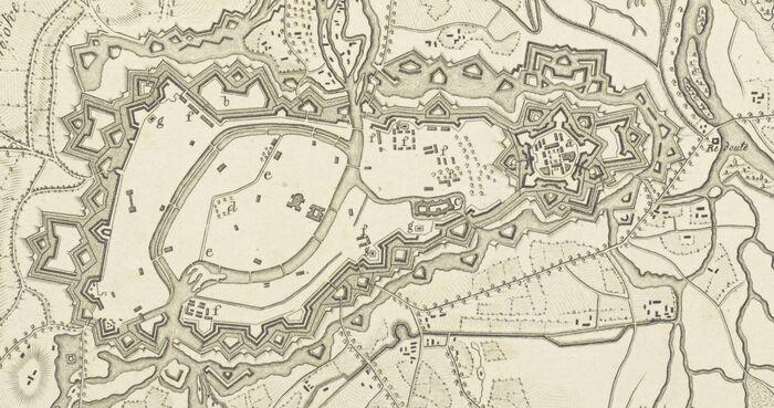 Militairische Karte von der Festung Strasburg des Feste Kehl, und von den umliegenden Gegenden..