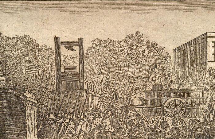 Execution de la Veuve Capet.