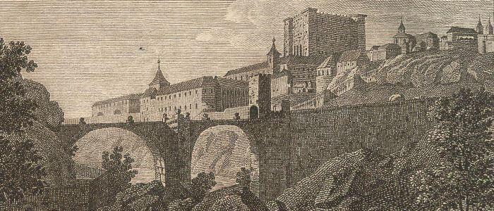 Toledo von der Brücke von Alcantara aus