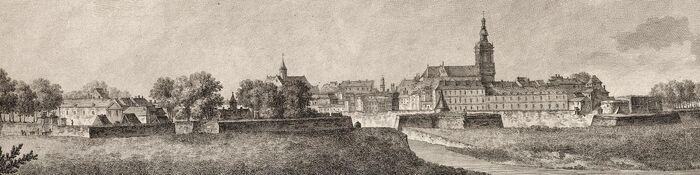 Vue de la ville de Maizieres en Chamapagne.