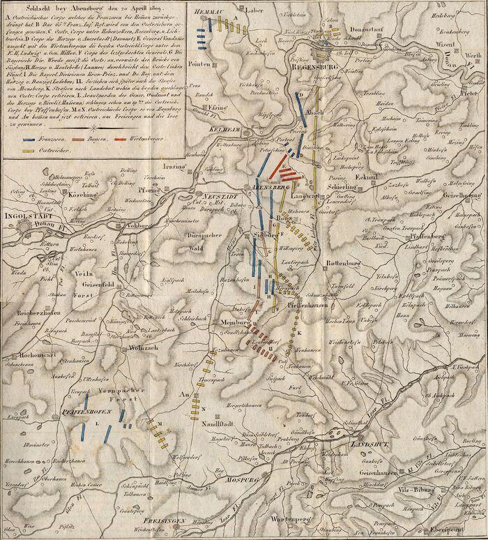 Plan von der Schlacht bey Abensberg.