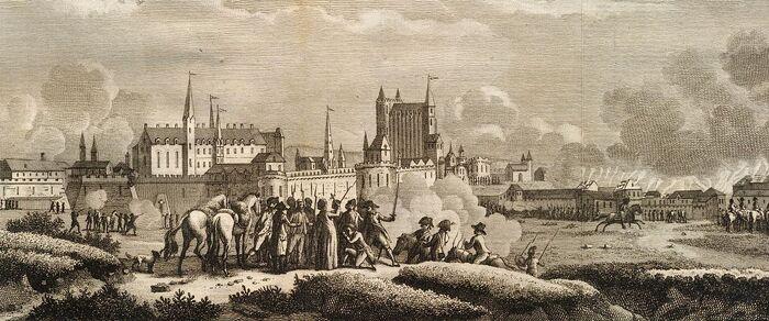 Aanval op Nantes, door de Vendéërs, op den 29sten von Wiedemaand 1793.
