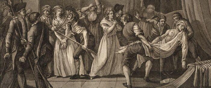 Moord van J. P. Marat, door Charlotte Cordaij, op den 13den von Hooijmaand 1793.