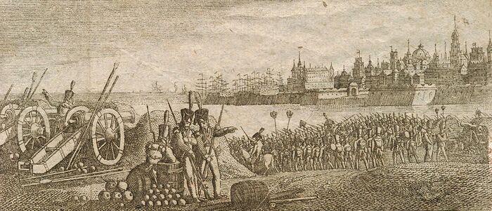 Belagerung von Cadix in Spanien.