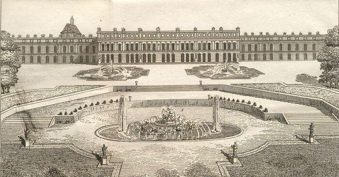 Vue du Chateau de Versailles (Côté du Parc.)