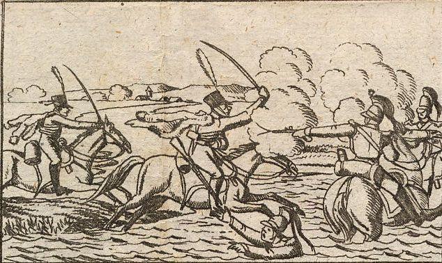 Die Schlacht an der Katzbach.