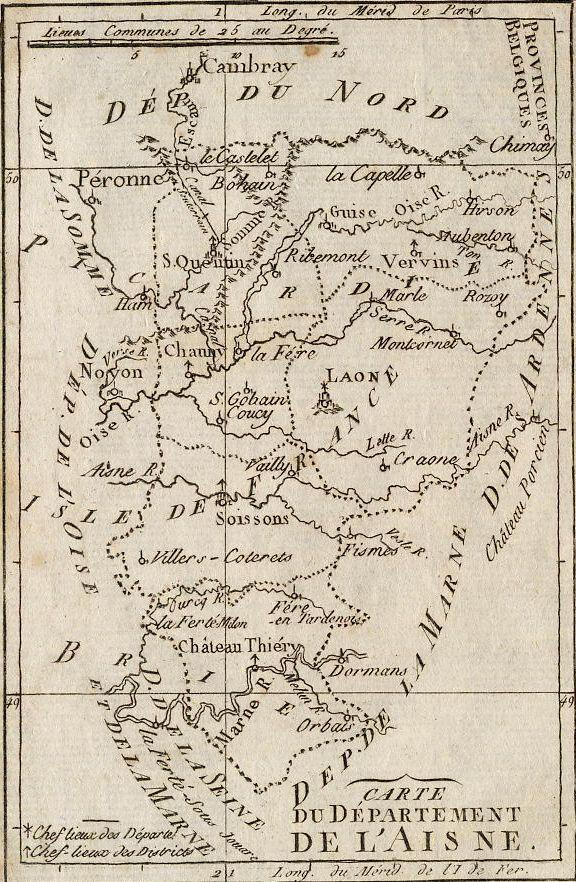 Carte du Département de l'Aisne.