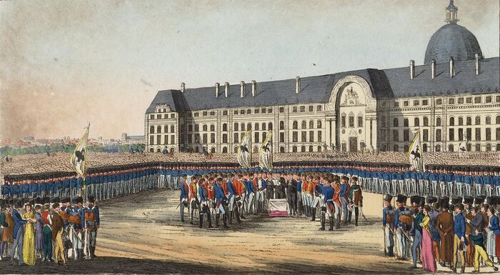 Würdiger Einzug der Deutschen in Paris, den 7ten Iuny 1815.