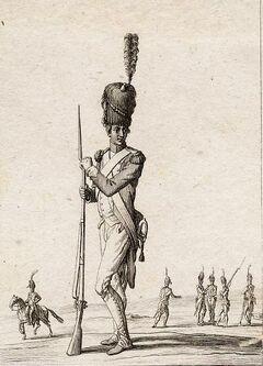 Chasseurs à pied de la Garde Impériale.