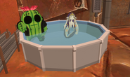 Arcadum Nov 28th 2020 37 Kak-to and Mayor Rico Suave in his pool