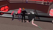 Arcad Dec 4th 2020 29 Mars arena onlookers April and June Levings (Cri and Strippin) John Goldman (Lawlman) and Rikky (Criken)