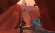 Arcad Mar 20th 2021 CRS02E14 35 Mars Korgak and guard charged by insects in bramble canyon