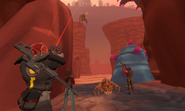Arcad Mar 20th 2021 CRS02E14 36 Mars Korgak Luca and guard charged by insects in bramble canyon