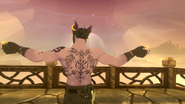 Theris's Scars and Back Tattoos