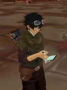 Crag Feb 20th 2021 4 Shiloh using his datapad phone thingy