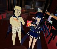 Astree and Mimika holding up Chips