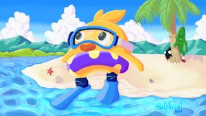 Flynn in scuba gear by Ralphsei