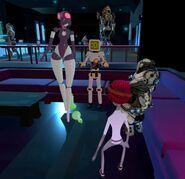 Rofl April 7th 26 Serenity (UzuriMia) dances for alien alt chars R3dzDead, MurderCrumpet and Bearly