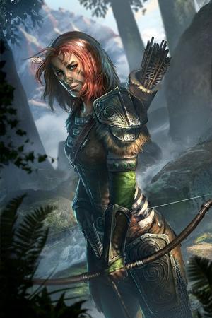 Aela the Huntress Legends Cart Art.png