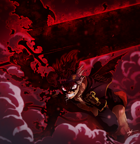 Black Clover 3 horned Black Asta fan art by Ediplus and render by Epsilon R.png