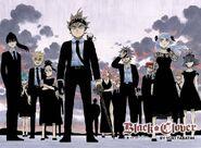 Black Clover - The Black Bulls in a black suit