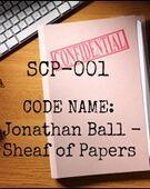 SCP-001 (Jonathan Ball's Proposal)