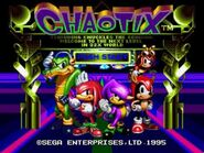 Knuckles' Chaotix - Title Card Intro