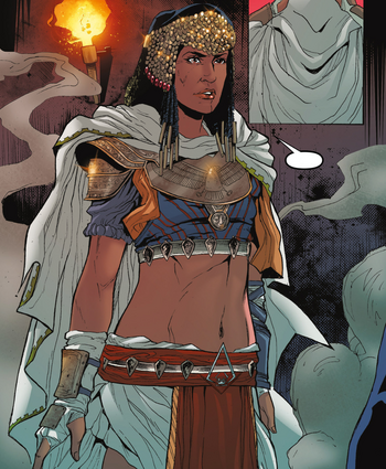 ACOC Amunet confronting Cleopatra.png