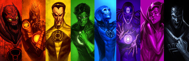 The eight Lantern Corps are all empowered by the emotion tied to their color.