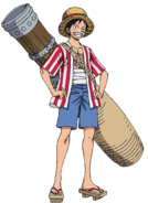 Stampede Luffy 1st outfit