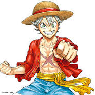 Black Clover Asta cosplayed as Monkey D. Luffy