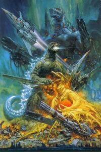 Godzilla vs. MechaGodzilla 2 Poster Textless