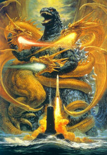 Godzilla vs. King Ghidorah Poster Textless