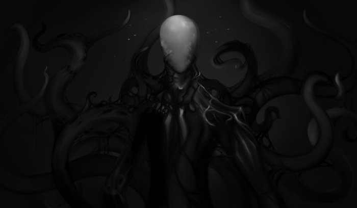 The Slenderman will often compel those affected by him to draw him and things associated with him, such as the Operator symbol or the woods.