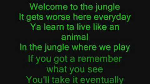 Guns N' Roses - Welcome to the Jungle with lyrics!