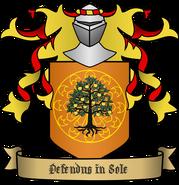 Coat of arms von Walden pomaranczowy rozeta drzewo 02