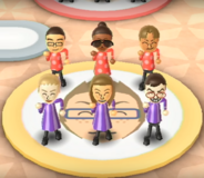 Shohei, Gwen, Greg, Jessie, Abby, and Hiromasa featured in Swap Meet in Wii Party
