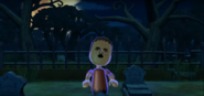 Michael as a Zombie in Zombie Tag in Wii Party