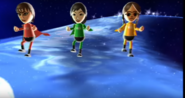 Susana, Misaki, and Chika participating in Space Brawl in Wii Party