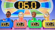 Hiroshi, Rachel, Eduardo and Gabi participating in Stop Watchers in Wii Party