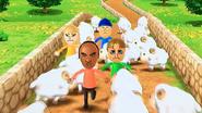 Eduardo, Greg and Gabi participating in Ram Jam in Wii Party