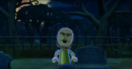 Ian as a Zombie in Zombie Tag in Wii Party