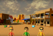 Nick, Luca, and Vincenzo participating in Popgun Posse in Wii Party