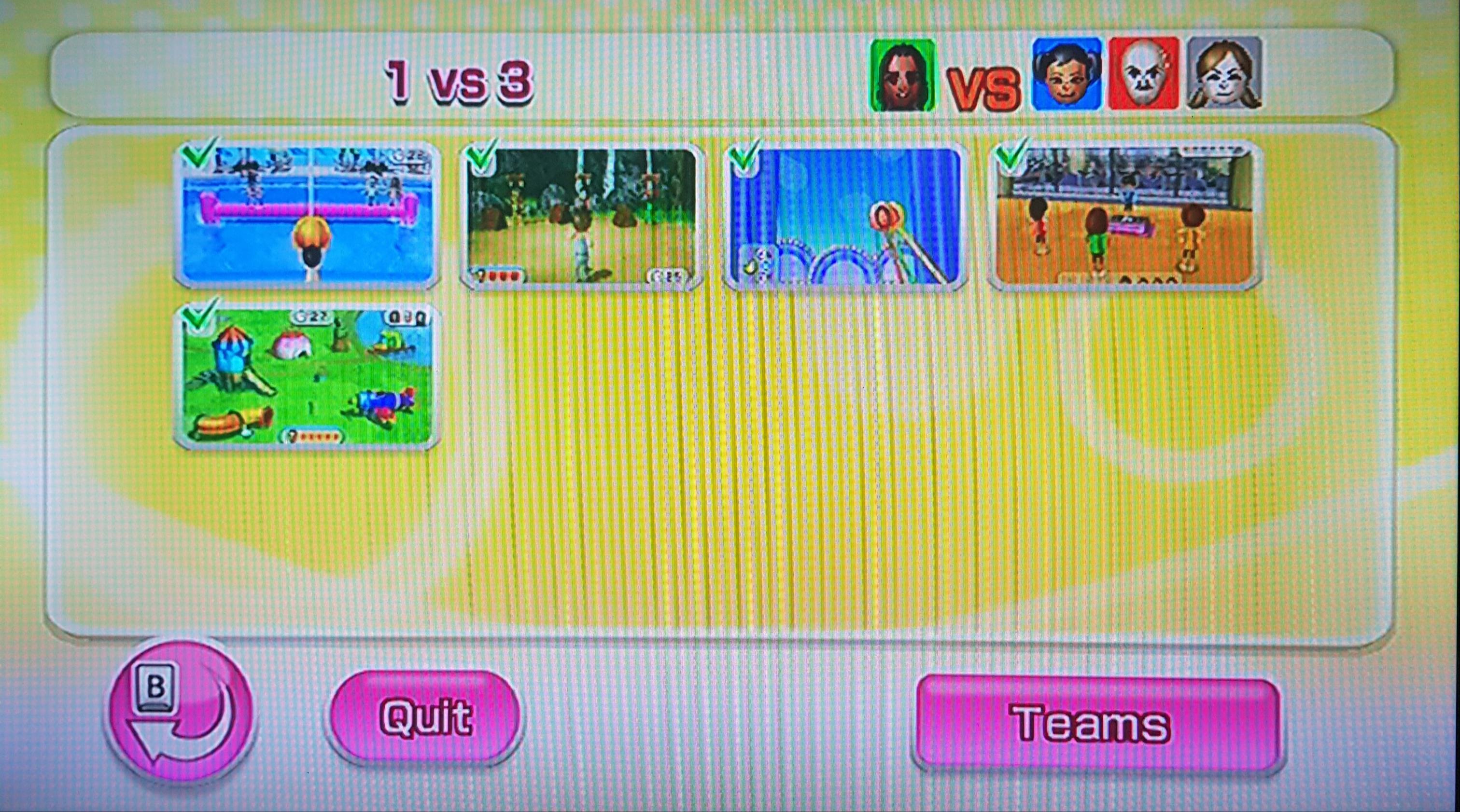 1 vs 3 minigame