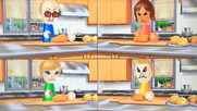 Martin, Yoko, Alisha and Tyrone participating in Chop Chops in Wii Party